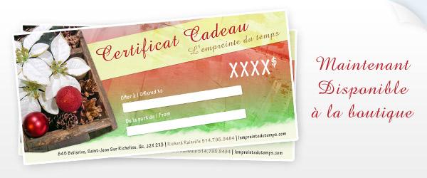 Certificats-cadeaux - Restaurant LImprial