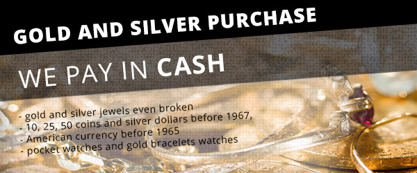 We buy gold and silver with cash