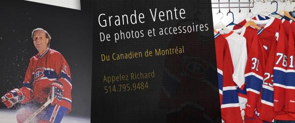 Grande vente d'accessoires hockey canadien Montréal