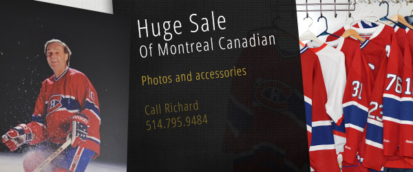 Huge Montreal Canadian hockey accessories sale