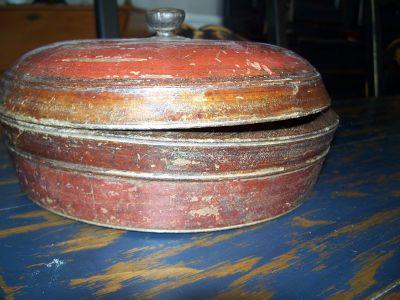 Bol en bois polychrome Amérindien 5