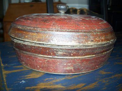 Bol en bois polychrome Amérindien 1