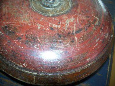 Bol en bois polychrome Amérindien 7