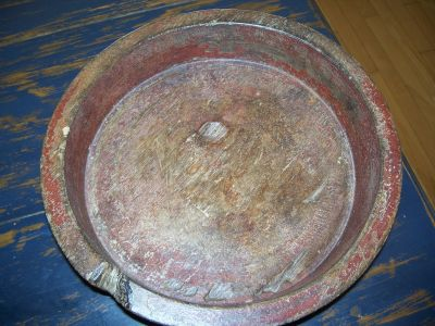 Bol en bois polychrome Amérindien 9