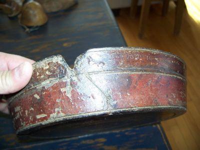 Bol en bois polychrome Amérindien 10