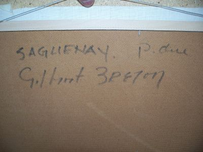 Large oil on canvas from Gilbert Breton 7