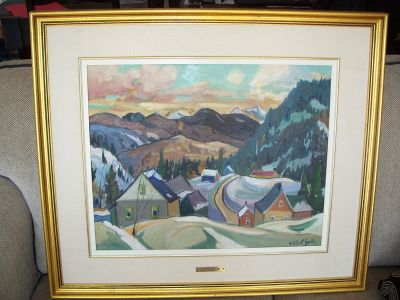 Large oil on canvas from Gilbert Breton 1