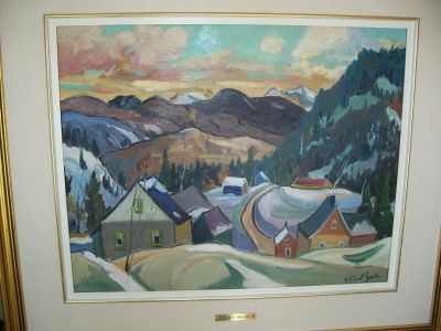 Large oil on canvas from Gilbert Breton 2