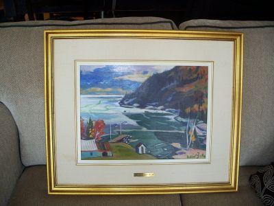 Gilbert Breton oil on canvas. 1