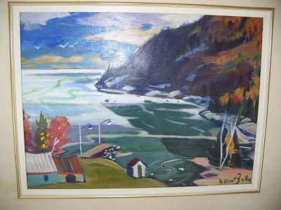 Gilbert Breton oil on canvas. 2