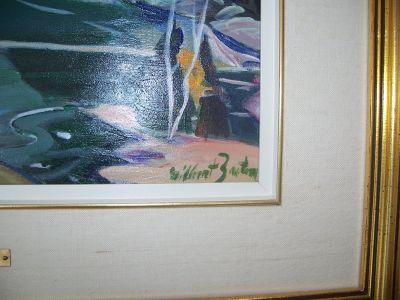 Huile sur toile de Gilbert Breton  3