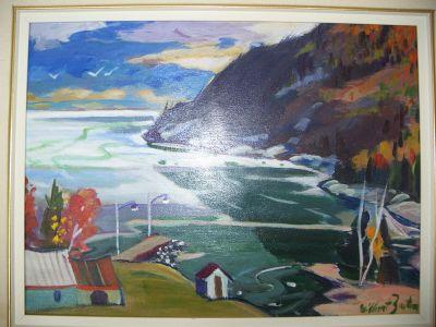 Gilbert Breton oil on canvas. 5