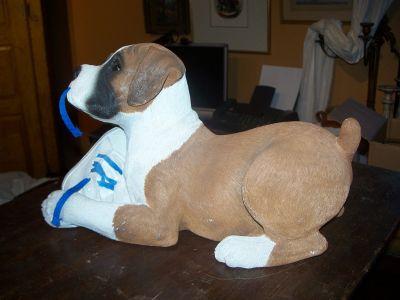 Chiot bulldog signé Sandra Brue années 1980 4