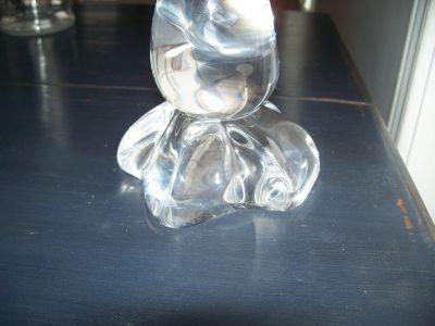 CANARD OISEAU en cristal  Gravé  DAUM FRANCE 4