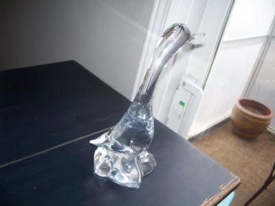 CANARD OISEAU en cristal  Gravé  DAUM FRANCE 2
