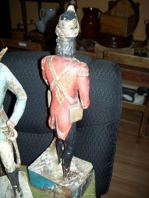 Paire de sculptures de soldats extraordinaires 16