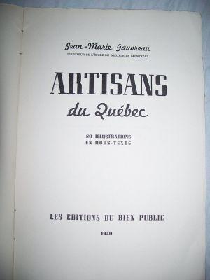 Artisans du Quebec Jean Marie Gauvreau 3