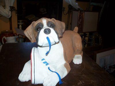 Chiot bulldog signé Sandra Brue années 1980 1