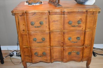 Commode arbalète en pin 3
