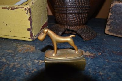 Milou porte alumettes en bronze 5