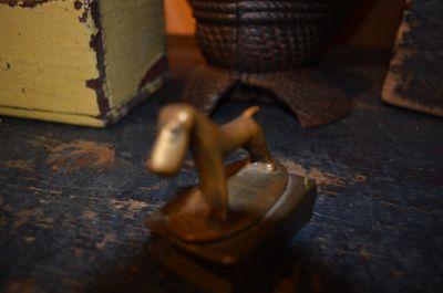 Milou porte alumettes en bronze 4