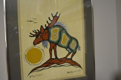 Douglas Akekagumick acrylique sur papier  1