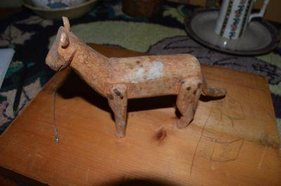 chat sculpté art populaire 1