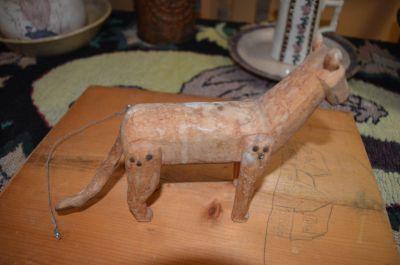 chat sculpté art populaire 4