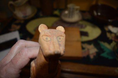 chat sculpté art populaire 6