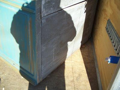 4 door pine cupboard w double raised panels. 10