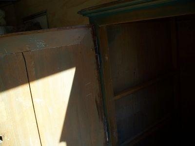 4 door pine cupboard w double raised panels. 5