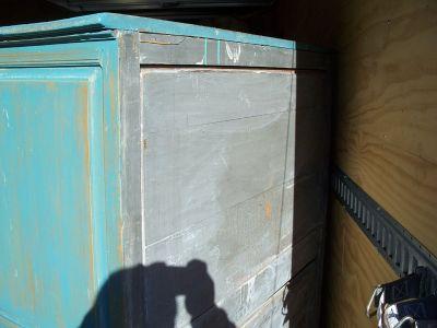 4 door pine cupboard w double raised panels. 9