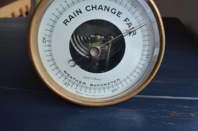 Short & Mason brass nautical barometer 2