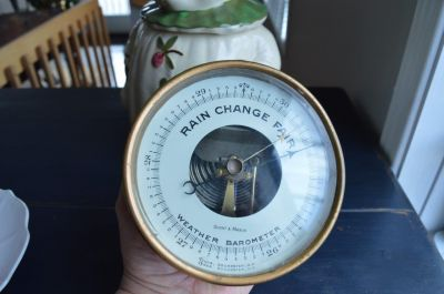 Short & Mason brass nautical barometer 5