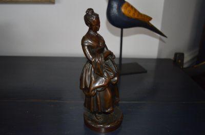 Bronze femme Victorienne 2