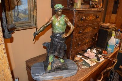 Blacksmith bronze from Emile Louis Picault 5