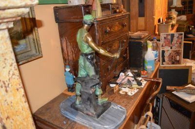 Blacksmith bronze from Emile Louis Picault 1