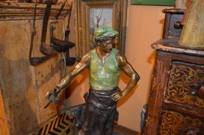 Blacksmith bronze from Emile Louis Picault 4