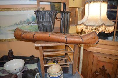 Nice old birch bark canoe,  1