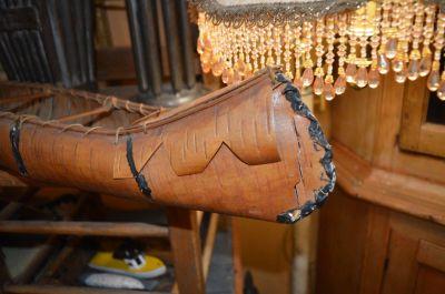 Nice old birch bark canoe,  2