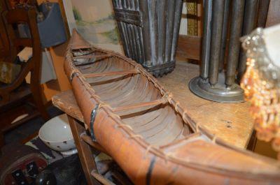 Nice old birch bark canoe,  3