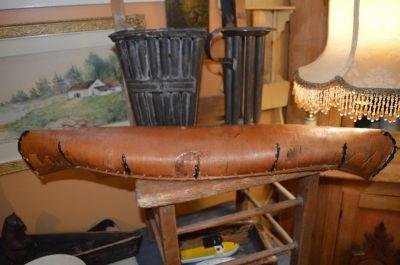 Nice old birch bark canoe,  4