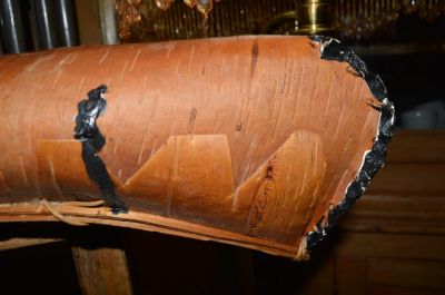 Nice old birch bark canoe,  6
