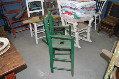 Chaise haute fonds tressé 4