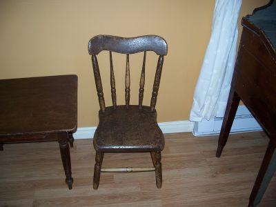 Paire de chaises d'enfant en pin ||| 2