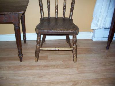 Paire de chaises d'enfant en pin ||| 3