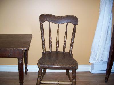 Paire de chaises d'enfant en pin ||| 4