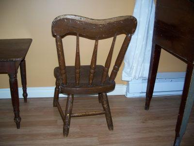 Paire de chaises d'enfant en pin ||| 5