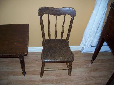 Paire de chaises d'enfant en pin ||| 6