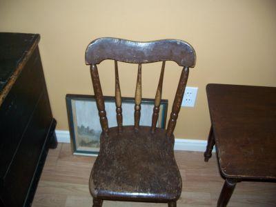Paire de chaises d'enfant en pin ||| 7